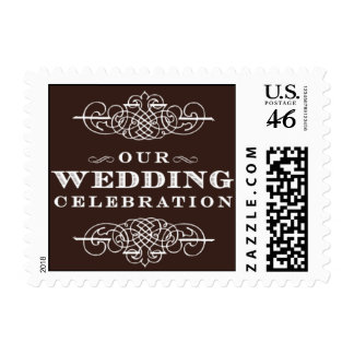 Luxe-Our Wedding Celebration-Brown Postage Stamps