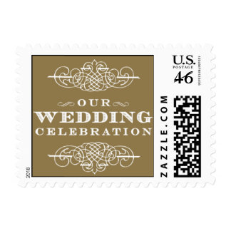 Luxe - Our Wedding Celebration - Gold Postage Stamps