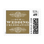 Luxe - Our Wedding Celebration - Gold Postage Stamp