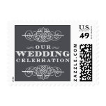 Luxe - Our Wedding Celebration - Gray Postage Stamp
