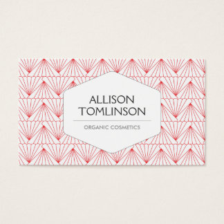 LUXE PERSONAL IDENTITY in RED & WHITE Business Card