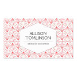 LUXE PERSONAL IDENTITY in RED & WHITE Business Card Template