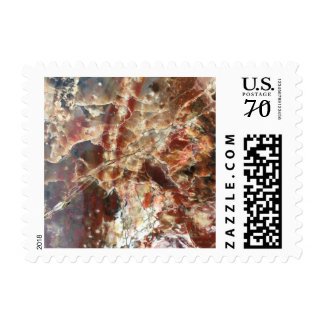 Luxe Red & Cream Postage Stamps