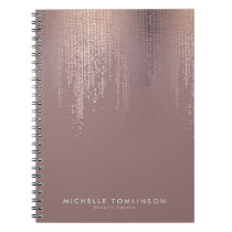 Luxe Rose Gold Confetti Rain Pattern Notebook