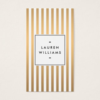 Luxe Rose Gold Stripes Boutique, Fashion, Beauty Business Card