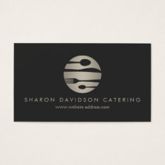 Luxe Silver And Black Catering, Restaurant, Chef Business Card at Zazzle