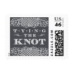 Luxe - Tying the Knot - Gray Postage Stamp