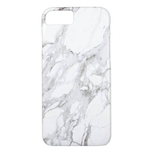 Luxe White Marble Phone Case