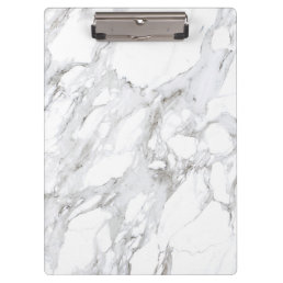 Luxe White Marble Clipboard
