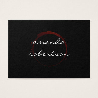 Luxe Wine Stain Business Card