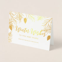 Luxe Winter Wishes Corporate Holiday Greeting Foil Card