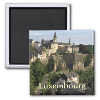 Luxembourg 2 Inch Square Magnet