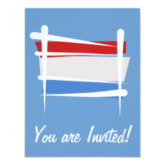 Luxembourg Brush Flag Card