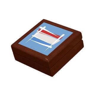 Luxembourg Brush Flag Jewelry Box