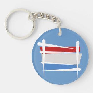 Luxembourg Brush Flag Keychain