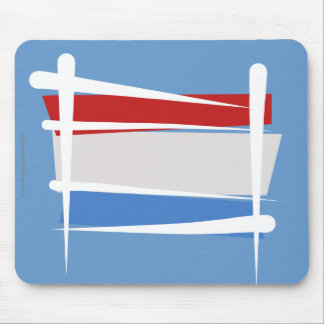 Luxembourg Brush Flag Mouse Pads