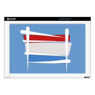 Luxembourg Brush Flag Skin For Laptop