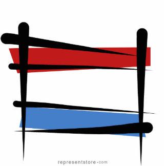 Luxembourg Brush Flag Statuette