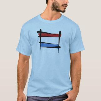 Luxembourg Brush Flag T-Shirt