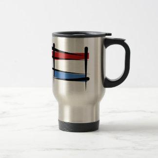 Luxembourg Brush Flag Travel Mug