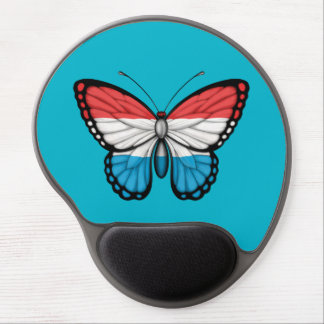 Luxembourg Butterfly Flag Gel Mousepads