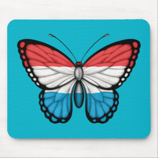 Luxembourg Butterfly Flag Mousepad