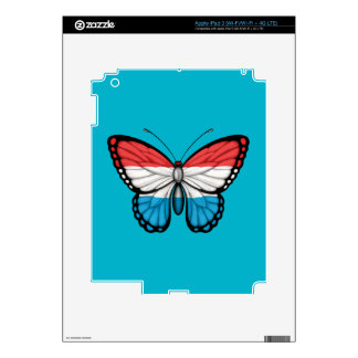 Luxembourg Butterfly Flag Skins For iPad 3