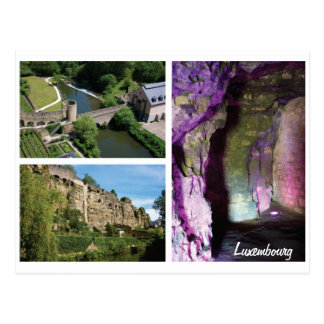 Luxembourg City Caverns Postcard
