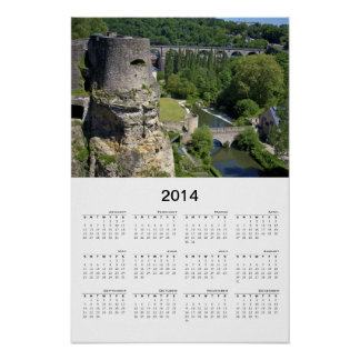 Luxembourg City Ruins 2 Calendar Poster
