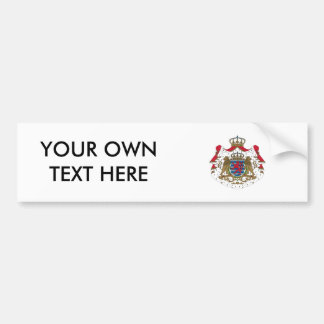 Luxembourg Coat of Arms Bumper Sticker