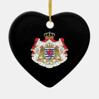 Luxembourg Coat of Arms Ceramic Ornament