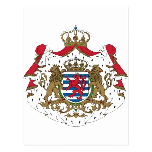 Luxembourg Coat Of Arms Postcard