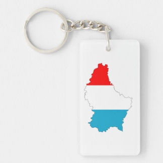 luxembourg country flag map shape silhouette keychain