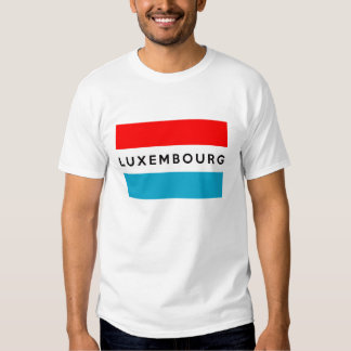 luxembourg country flag symbol name text t-shirts