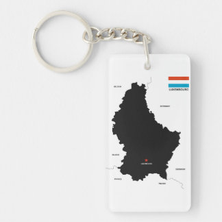 luxembourg country political map flag keychain