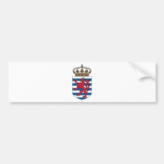luxembourg emblem bumper sticker