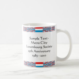 Luxembourg eText ~ Flagcolor Map Mug