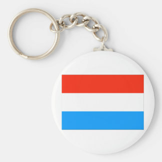 Luxembourg Flag Basic Round Button Keychain