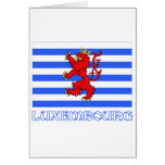 Luxembourg Flag (de facto) with Name Greeting Card