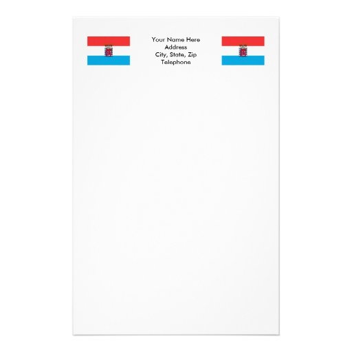 Luxembourg Flag (de legis) Personalized Stationery