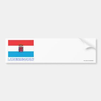 Luxembourg Flag (de legis) with Name Bumper Sticker