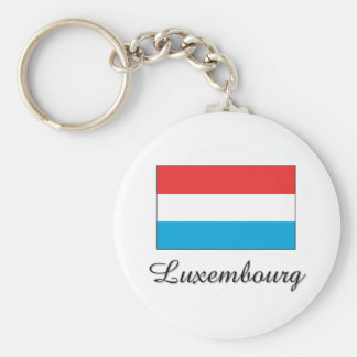 Luxembourg Flag Design Keychain