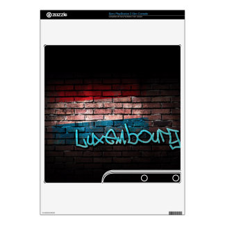 Luxembourg Flag Graffiti Decal For The PS3 Slim