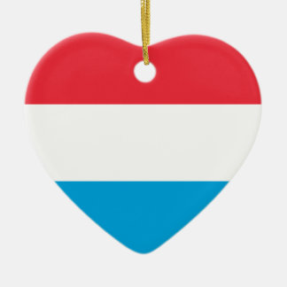 Luxembourg Flag Heart Ornament