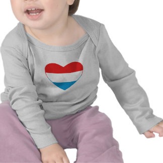 Luxembourg Flag Heart T-Shirt