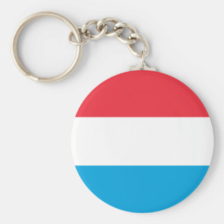 Luxembourg Flag - Lëtzebuerger Fändel - Drapeau Keychain