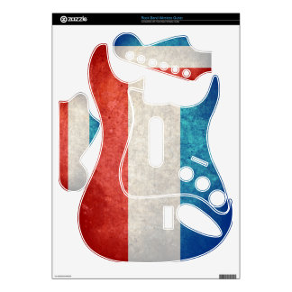 Luxembourg Flag; Luxembourger; Rock Band Guitar Skin