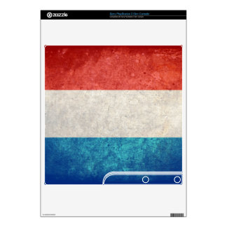Luxembourg Flag; Luxembourger; PS3 Slim Console Decal
