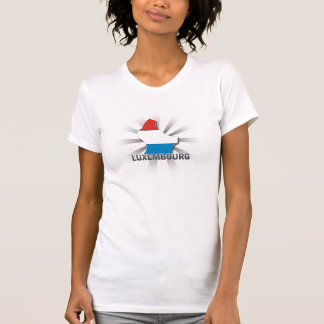 Luxembourg Flag Map 2.0 Tee Shirt