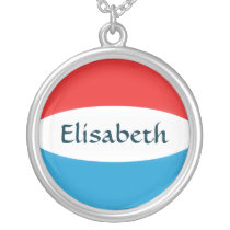 Luxembourg Flag   Name Necklace